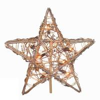 Kurt S. Adler 10-Light Rattan Natural Star Treetop from Blain's Farm and Fleet