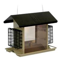 Stokes Select Large Hopper Feeder with Suet Holders from Blain's Farm and Fleet