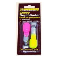 Hi-Tech Fishing Fluorescent Yellow / Pink Depth Finders from Blain's Farm and Fleet