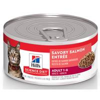 Hill's Science Diet 5.5 oz Minced Savory Salmon Entree Adult Optimal Care Canned Cat Food from Blain's Farm and Fleet