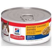 Hill's Science Diet Minced Savory Chicken Entree Mature Adult 7+ Canned Cat Food from Blain's Farm and Fleet