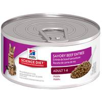 Hill's Science Diet 5.5 oz Minced Gourmet Beef Entree Adult Optimal Care Canned Cat Food from Blain's Farm and Fleet