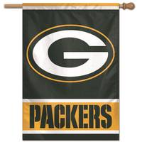 WinCraft Green Bay Packers Vertical Banner Flag from Blain's Farm and Fleet