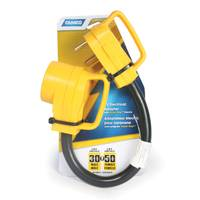 Camco Manufacturing 30 M-50 F Power Grip Dogbone Adapter from Blain's Farm and Fleet