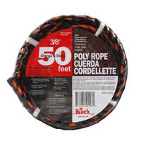 Koch Industries 50' Twisted Orange / Black Poly Truck Rope from Blain's Farm and Fleet