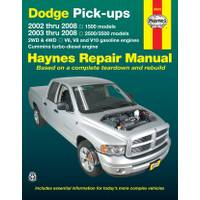 Haynes 30042 Dodge 1500 Pick-Ups (02-08) & 2500/3500 Pick-Ups (03-08) Manual from Blain's Farm and Fleet