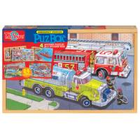 T.S. Shure PuzBox Construction Vehicle Puzzle from Blain's Farm and Fleet