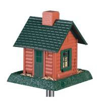 North States Industries, Inc. Plastic Log Cabin Bird Feeder from Blain's Farm and Fleet