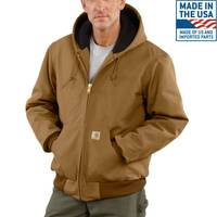 Carhartt Men's Duck Quilted Flannel Lined Active Jacket from Blain's Farm and Fleet