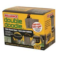 Reliance Double Doodie Toilet Bags with Bio-Gel from Blain's Farm and Fleet