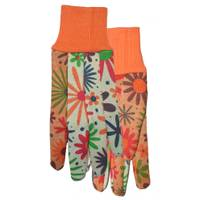 MidWest Gloves Women's Polka Dot Garden Gloves with Palm Grips from Blain's Farm and Fleet