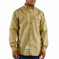 Carhartt Men's Flame Resistant Twill Long Sleeve Shirt from Blain's Farm and Fleet