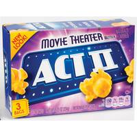 ACT II Movie Theater Microwave Popcorn 3 Pack from Blain's Farm and Fleet
