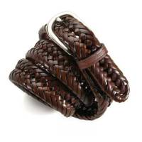 Wrangler Men's Chestnut Braided Belt from Blain's Farm and Fleet
