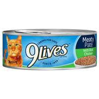 9 Lives Meaty Pate With Real Chicken Cat Food from Blain's Farm and Fleet