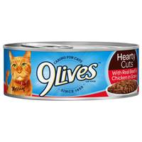 9 Lives Hearty Cuts With Real Beef & Chicken In Gravy Cat Food from Blain's Farm and Fleet