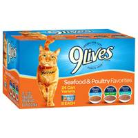 9 Lives Seafood & Poultry Favorites Variety Pack Cat Food from Blain's Farm and Fleet