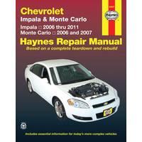 Haynes Chevrolet Impala (06-11) & Monte Carlo (06-07) Manual from Blain's Farm and Fleet