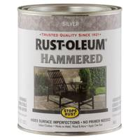 Rust-Oleum 1 Qt Stops Rust Hammered Silver Enamel Paint from Blain's Farm and Fleet