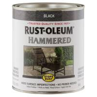 Rust-Oleum 1 Qt Stops Rust Hammered Black Enamel Paint from Blain's Farm and Fleet