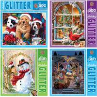 MasterPieces Holy Night Holiday Glitter Jigsaw Puzzle Assortment from Blain's Farm and Fleet