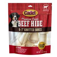 Cadet Natural Rawhide Knot Bones 4 Pack from Blain's Farm and Fleet