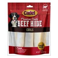 Cadet Natural Rawhide Roll Curls from Blain's Farm and Fleet