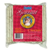 Cadet Rawhide Dog Chew Twist Sticks from Blain's Farm and Fleet