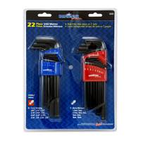 Duracraft Pro 22 Piece SAE and Metric Hex Key Set from Blain's Farm and Fleet