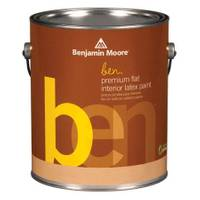 Benjamin Moore Benjamin Moore 1 Gallon ben(R) Interior Flat Finish Latex Paint from Blain's Farm and Fleet
