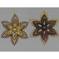 Caffco International Chocolate Gold Snowflake Ornament Assortment from Blain's Farm and Fleet
