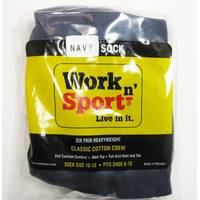 Work n' Sport Crew Socks 6 Pack from Blain's Farm and Fleet