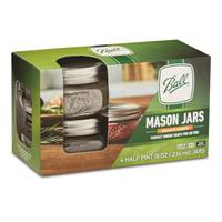 Ball 4-Pack Elite Collection Wide Mouth 1/2 Pint 8 oz Mason Jars from Blain's Farm and Fleet