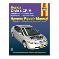 Haynes Honda Civic (01-10) and CR-V (02-09) Manual from Blain's Farm and Fleet