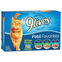 9 Lives Pate Favorites Cat Food Variety Pack from Blain's Farm and Fleet