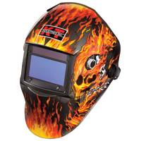 K - T Industries, Inc. Flaming Skull Auto - Darkening Welding Helmet from Blain's Farm and Fleet