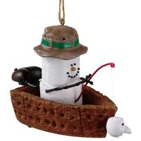 Midwest-CBK S'mores Snowman In Fishing Boat Ornament from Blain's Farm and Fleet
