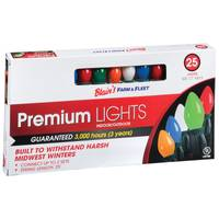 Blain's Farm & Fleet Premium Multi-Colored C7 Indoor/Outdoor Christmas Light Set from Blain's Farm and Fleet