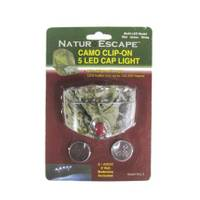 Hi-Tech Fishing Clip - On 5 LED Cap Light with Batteries from Blain's Farm and Fleet