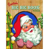 Little Golden Books Santa's Big Big Book to Color from Blain's Farm and Fleet