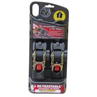 Erickson Manufacturing Retractable Ratcheting Tie Down Straps from Blain's Farm and Fleet