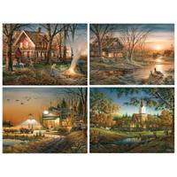 White Mountain Puzzles Terry Redlin Harvest Moon Ball Jigsaw Puzzle from Blain's Farm and Fleet