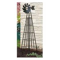Panacea 6' Black Obelisk Windmill from Blain's Farm and Fleet