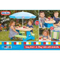 Little Tikes Easy Store Picnic Table with Umbrella from Blain's Farm and Fleet