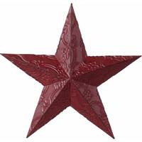 Transpac Imports Inc. Dark Red Embossed Metal Barn Star from Blain's Farm and Fleet