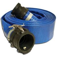 Apache 25' PVC Lay Flat Discharge Hose Couple C x E Polypropylene Cam Locks from Blain's Farm and Fleet