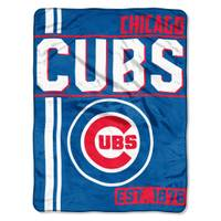 The Northwest Company MLB Chicago Cubs Super Plush Throw Blanket from Blain's Farm and Fleet