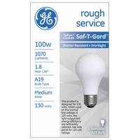 GE Saf - T - Gard Rough Service Light Bulb from Blain's Farm and Fleet