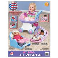 American Plastic Toys 3-Piece Dolls Care Set from Blain's Farm and Fleet
