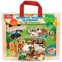 T.S. Shure Farm Animals & Vehicles Magnetic Wooden Playboard Set from Blain's Farm and Fleet